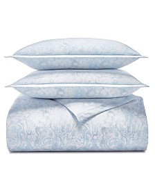 Charter Club Sleep Luxe Cotton 800-Thread Count 3-Pc. Printed Full/Queen Duvet Cover Set, Created for Macy's