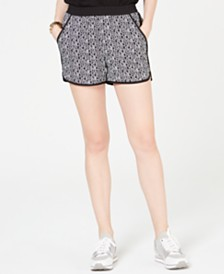 Michael Michael Kors Logo-Print Pull-On Shorts