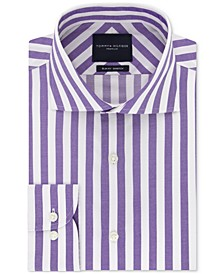 Men's Slim-Fit Non-Iron THFlex Supima® Stretch Bold Stripe Dress Shirt