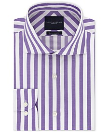 Tommy Hilfiger Men's Slim-Fit Non-Iron THFlex Supima® Stretch Bold Stripe Dress Shirt