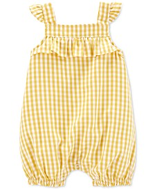 Carter's Baby Girls Gingham Romper