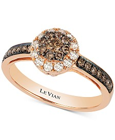 Le Vian Chocolatier® Diamond Ring (1/2 ct. t.w.) in 14k Rose Gold