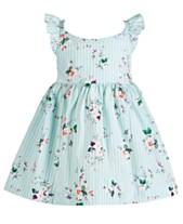 4b96ef27cb9d7 Bonnie Baby Baby Girls Floral-Print Flutter Dress