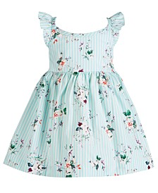 Bonnie Baby Baby Girls Floral-Print Flutter Dress