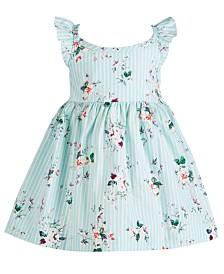 Bonnie Baby Baby Girls Floral-Print Flutter Dress