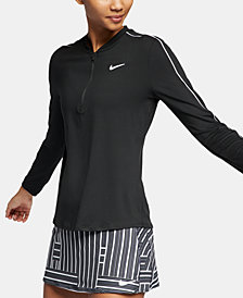Nike Women's Court Dry Half-Zip Tennis Top