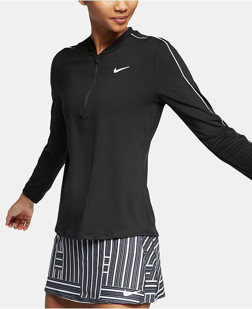 8d9abcf4d Nike Court Dry Half-Zip Tennis Top & Reviews - Tops - Women - Macy's