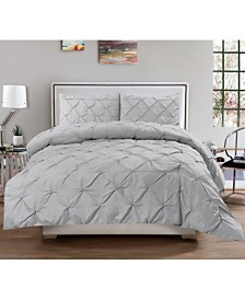 Sweet Home Collection Queen 3-Pc Pintuck Duvet Cover Set