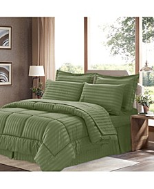 Dobby Embossed Queen 8-Pc Comforter Set