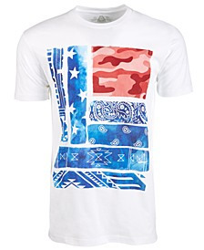 Men's Modern Flag Graphic T-Shirt, Created for Macy's
