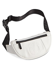 DKNY Embossed Logo Faux Leather Belt Bag
