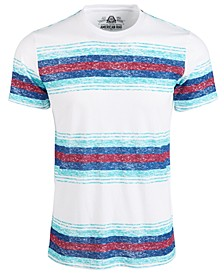 Men's Textured Stripe T-Shirt, Created for Macy's
