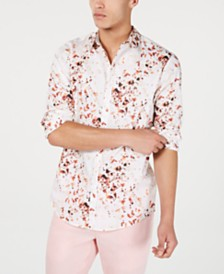 I.N.C. Men's Abstract Floral Print Shirt, Created for Macy's