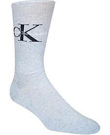Men's Ribbed Logo Crew Socks