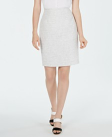Calvin Klein Textured Pencil Skirt