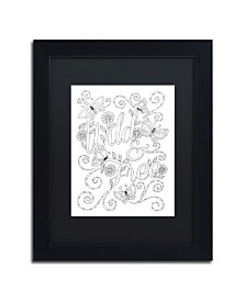 """Hello Angel Letters & Words 11 Matted Framed Art - 16"""" x 20"""" x 0.5"""""""