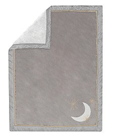 Lambs & Ivy Signature Goodnight Giraffe Moonbeams Minky Celestial Baby Blanket