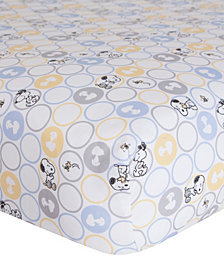 Lambs & Ivy My Little Snoopy™ 100% Cotton Baby Fitted Crib Sheet