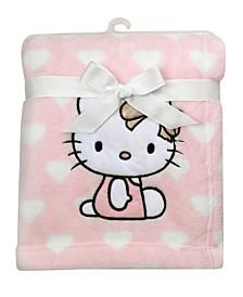 Hello Kitty Heart Luxury Coral Fleece Baby Blanket