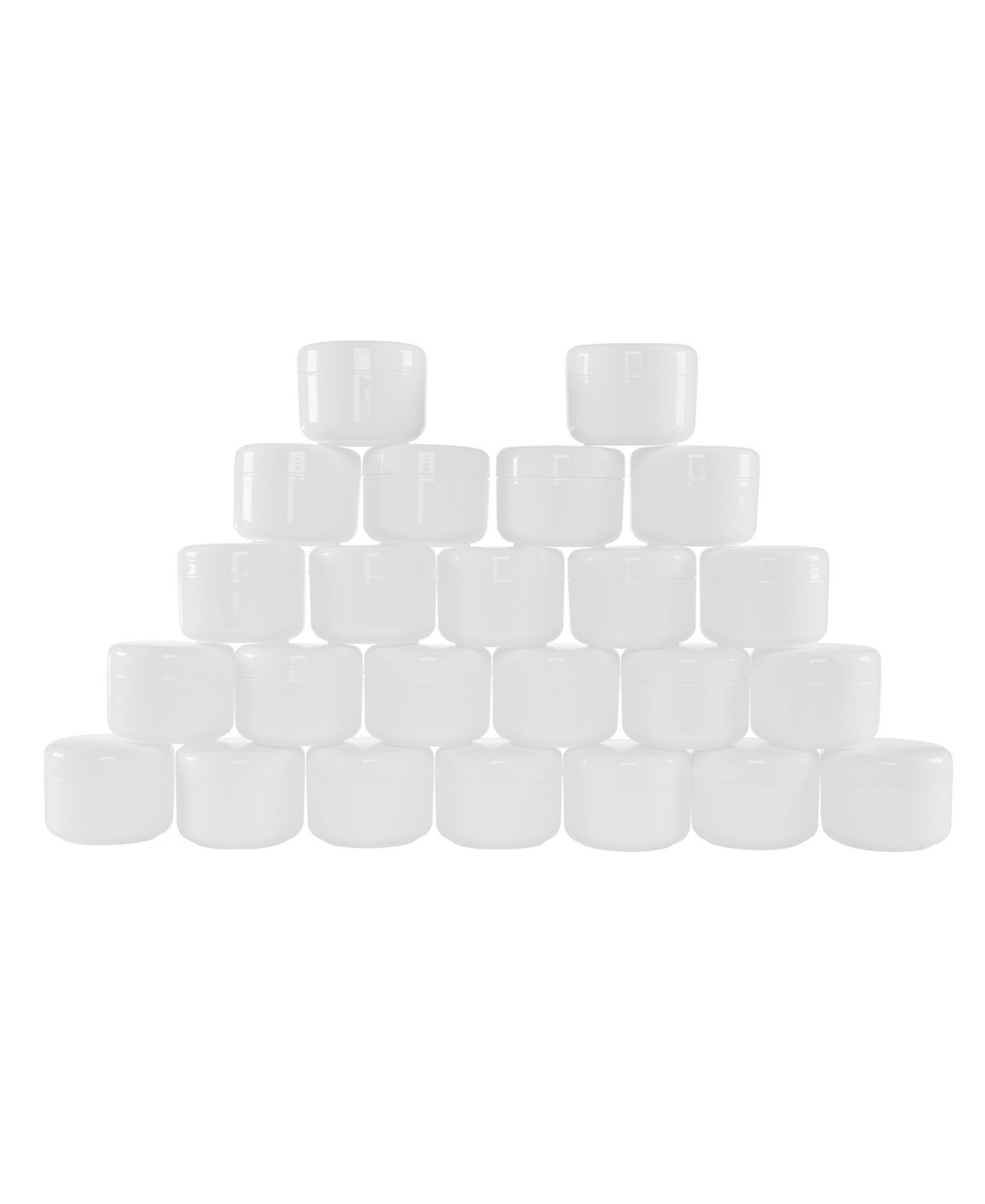 Trademark Global 4 Ounce Plastic Jar Containers, 24 Pack of Storage Jars Inner and Outer Lid by Stalwart