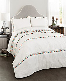 Boho Tassel 3-Pc. King Comforter Set