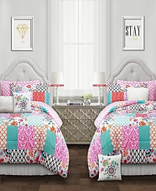Brookdale Patchwork 5-Pc. Twin XL Comforter Set