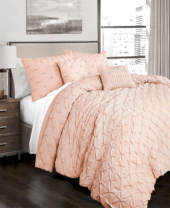 Lush Decor Ravello Pintuck 5-Piece King Comforter Set