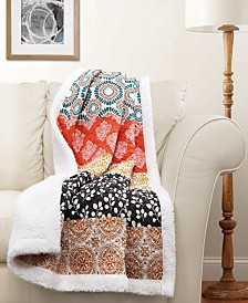 Bohemian Stripe Sherpa Throw