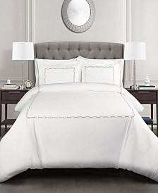 Hotel Geo 3pc King Duvet Cover