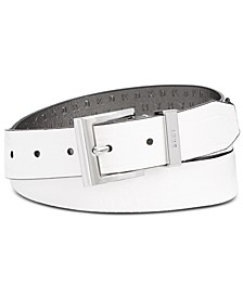 Croc-Embossed Faux Leather Belt