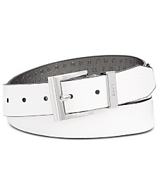 DKNY Croc-Embossed Faux Leather Belt