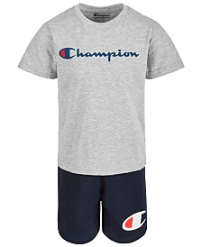Champion Toddler Boys Heritage 2-Pc. Logo-Print T-Shirt & Shorts Set