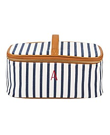 Personalized Striped Toiletry Bag