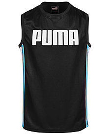 Puma Big Boys Dazzle + Mesh Muscle Tank Top