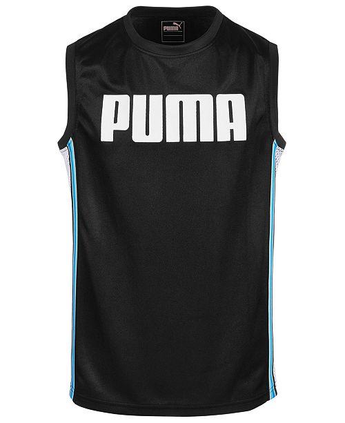 Puma Big Boys Dazzle + Mesh Muscle Tank Top