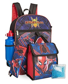 Bioworld Little & Big Boys 5-Pc. Spider-Man Backpack & Lunch Kit Set