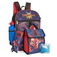 Bioworld Little & Big Boys 5-Piece Spider-Man Backpack & Lunch Kit Set