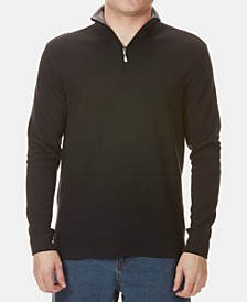 Men's Straight-Fit French-Knit 1/4-Zip Sweater from Eastern Mountain Sports