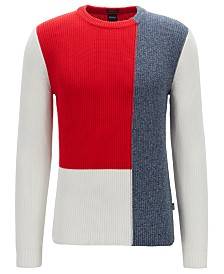 BOSS Men's Feltoni Regular-Fit Cotton Sweater