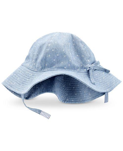 Carter's Baby Girls Star-Print Cotton Hat