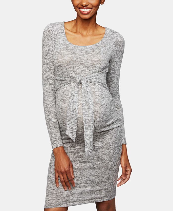 A Pea in the Pod - Maternity Tie-Front Dress