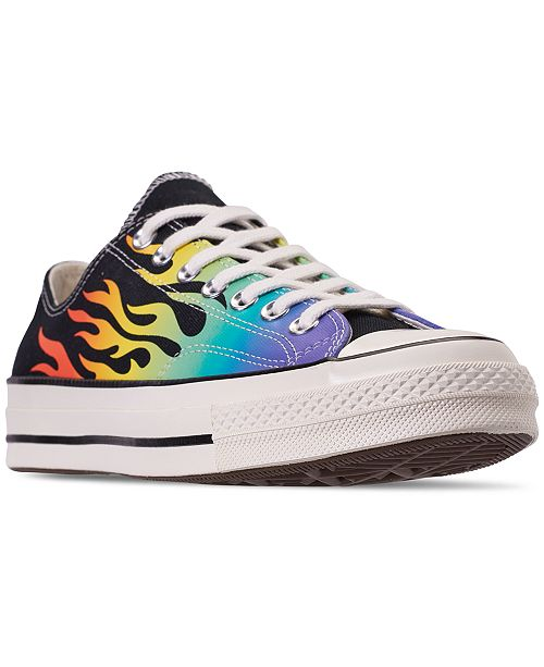 3f4ba2c29ff3e ... Converse Men's Chuck Taylor All Star Ox '70s Archived Print Casual  Sneakers from Finish ...