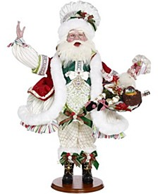 Chef Santa Elf with Tray - 26 Inches