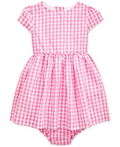 e0f16f42d Polo Ralph Lauren Baby Girls Checked Taffeta Dress   Bloomer