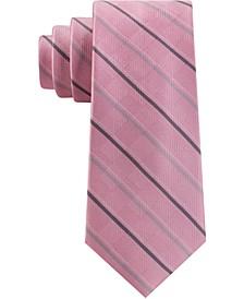 Men's Asymmetrical Textured Ground Stripe Tie