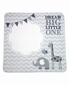 "Lillian Rose ""Dream Big"" Elephant Baby Blanket with Milestone Cards"