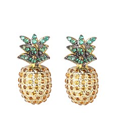 Multi Stone Cubic Zirconia Pineapple Stud Earring
