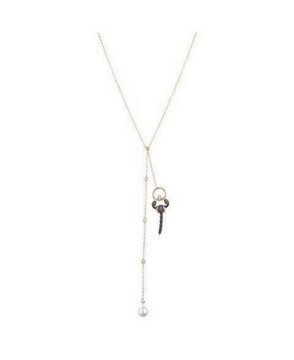 nOir Cubic Zirconia Scorpion Necklace