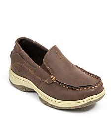 Deer Stags Little and Big Boys Evan Classic Dress Comfort Slip-On Boat Shoe