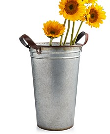La Dolce Vita Large Metal Flower Bucket